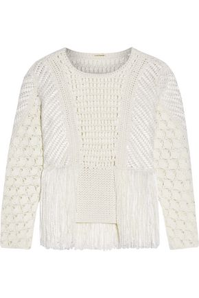 ADAM LIPPES Crocheted cotton-blend sweater