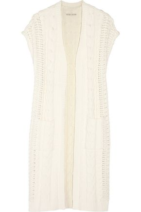 ALICE + OLIVIA Jodi cable-knit cotton-blend cardigan