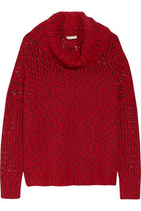 ALICE + OLIVIA Otis open-knit turtleneck sweater