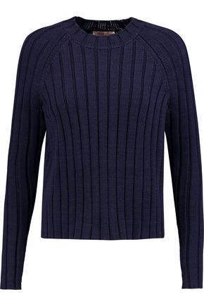 TORY BURCH Ribbed cotton sweater