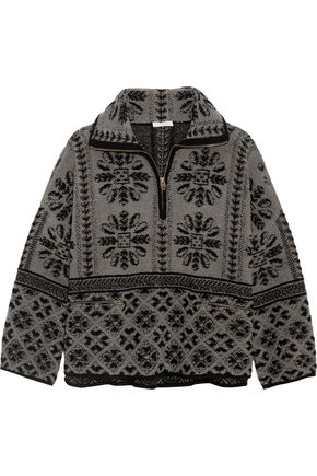 CHLOÉ Oversized wool and cashmere-blend terry sweater
