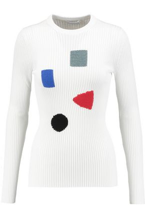 J.W.ANDERSON Embroidered ribbed-knit sweater
