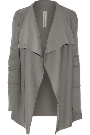 RICK OWENS Draped cotton cardigan