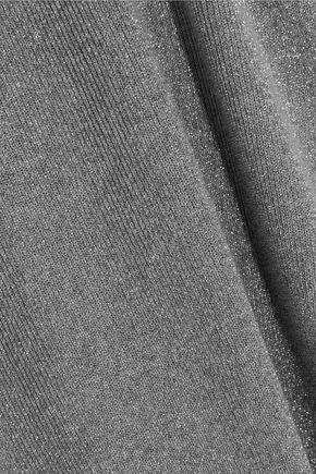 MUGLER Metallic knitted top