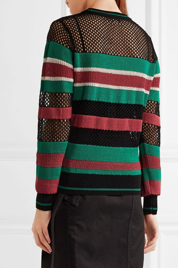 Deacon striped knitted sweater   ISABEL MARANT ÉTOILE   Sale up to 70% off    THE OUTNET