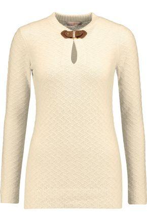 TORY BURCH Mim textured-knit wool-blend sweater