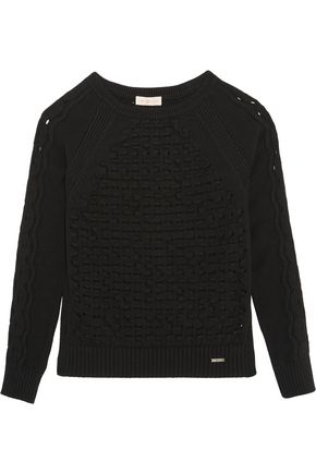 TORY BURCH Wendy open-knit cotton-blend sweater
