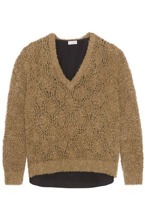 BRUNELLO CUCINELLI Bouclé-knit cotton-blend sweater