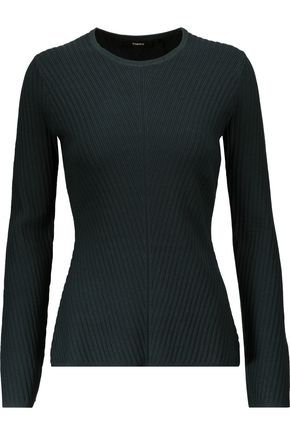 THEORY Ardesia ribbed-knit sweater