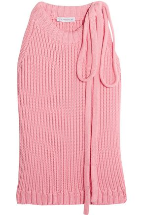 J.W.ANDERSON Knitted cotton-top