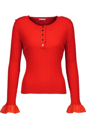 OSCAR DE LA RENTA Ribbed wool sweater