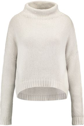 AUTUMN CASHMERE Asymmetric open-knit turtleneck sweater