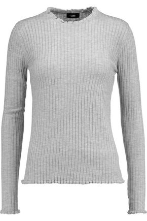 Clearance In China Line Woman Intarsia Bouclé-knit Sweater Light Gray Size M Line Whole World Shipping Free Shipping Footlocker Pictures Outlet Footaction Outlet Wholesale Price MxT5ye6sd2