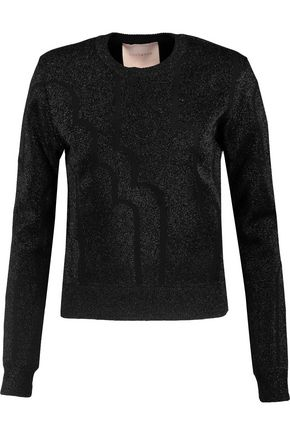 ROKSANDA Metallic crochet-knit sweater