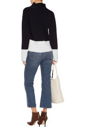 8 Ribbed wool turtleneck sweater