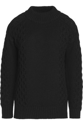 BELSTAFF Milton cable knit-paneled cashmere sweater