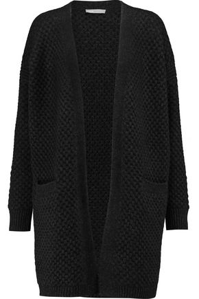 VINCE. Waffle-knit wool-blend cardigan