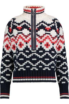 MAJE Intarsia wool-blend sweater