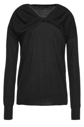 MAJE Twist-front wool sweater