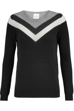 MADELEINE THOMPSON Thilia intarsia wool and cashmere-blend sweater