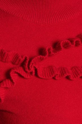 MADELEINE THOMPSON Ithaca ruffle-trimmed wool and cashmere-blend turtleneck sweater
