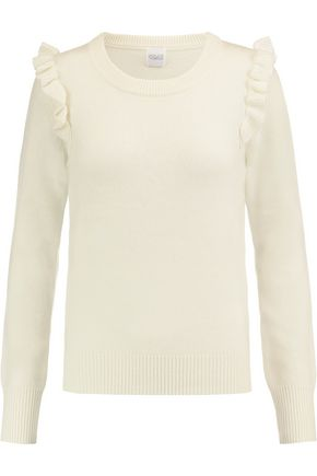 MADELEINE THOMPSON Leo striped wool and cashmere-blend top