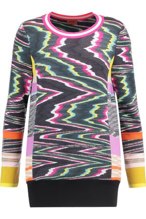 MISSONI Intarsia wool-blend sweater