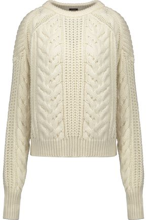 MAJE Maxime cable-knit wool-blend sweater
