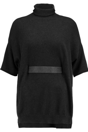 BRUNELLO CUCINELLI Chain-trimmed belted cashmere sweater