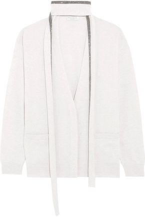 BRUNELLO CUCINELLI Chain-embellished cashmere cardigan