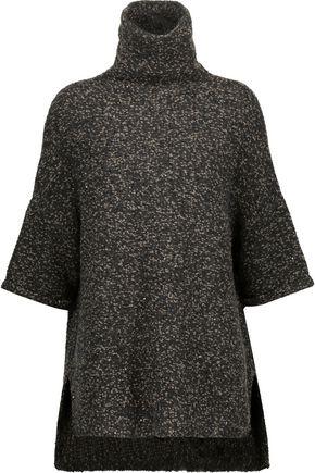 BRUNELLO CUCINELLI Sequin-embellished marled bouclé-knit turtleneck sweater