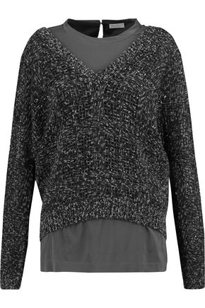 BRUNELLO CUCINELLI Sequined cashmere-blend sweater