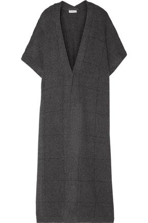 BRUNELLO CUCINELLI Checked cashmere cardigan