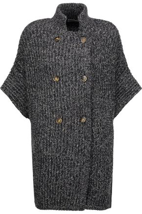 BRUNELLO CUCINELLI Sequin-embellished ribbed wool-blend cardigan