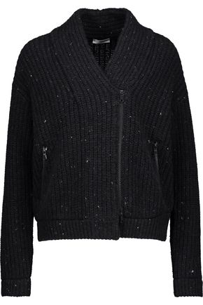BRUNELLO CUCINELLI Sequin-embellished ribbed wool-blend cardigan