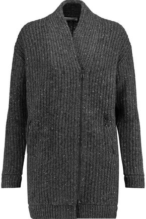 BRUNELLO CUCINELLI Sequined wool, cashmere and silk-blend cardigan