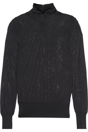 DKNY Stretch-knit turtleneck top
