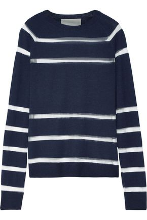 JASON WU Tulle-paneled wool-blend sweater