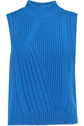 DIANE VON FURSTENBERG Ribbed wool and cashmere-blend sweater