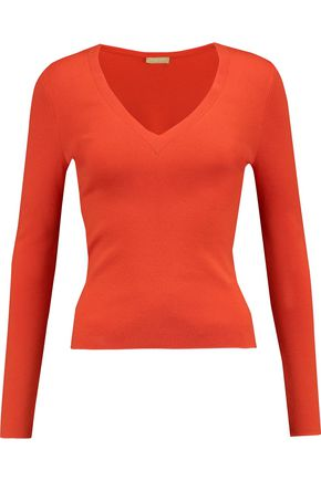 WOMAN CASHMERE SWEATER PAPAYA