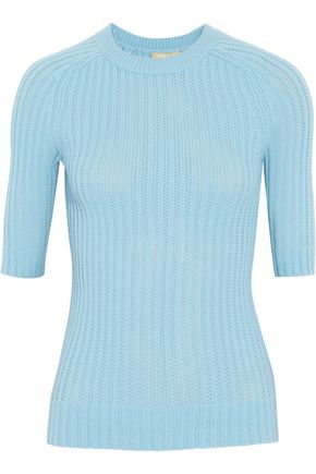 MICHAEL KORS COLLECTION Open-knit cashmere sweater