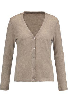 MAJESTIC Marled cashmere-jersey cardigan
