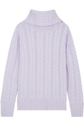 N.PEAL Cable-knit cashmere turtleneck sweater