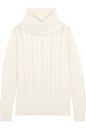 N.PEAL Cashmere cable-knit turtleneck sweater
