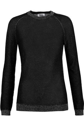 ZOE KARSSEN Metallic stretch-knit sweater