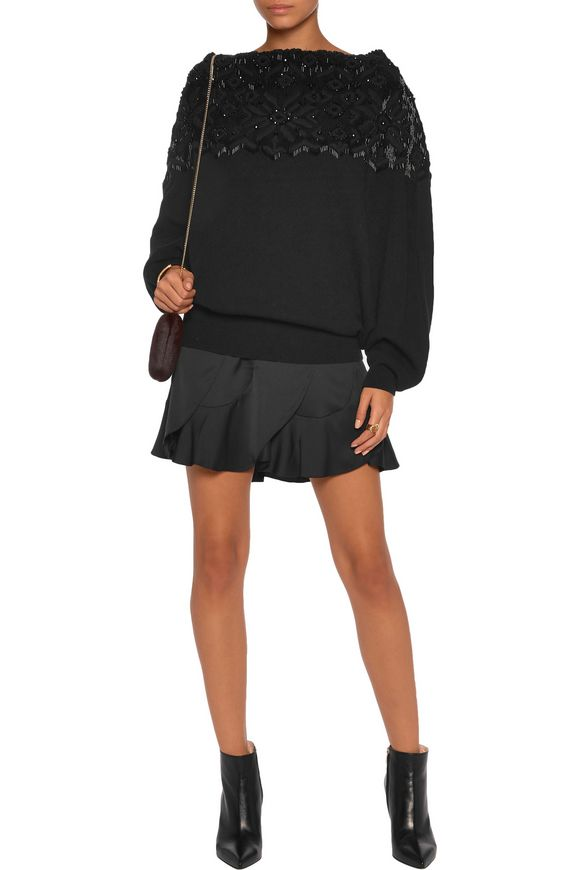 Bead-embellished wool and cashmere-blend sweater | VALENTINO | Sale up to 70%  off | THE OUTNET