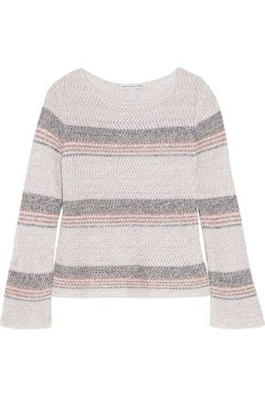 AUTUMN CASHMERE Open-knit cotton sweater