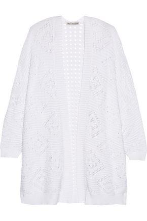 AUTUMN CASHMERE Open-knit cotton cardigan