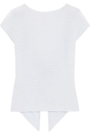 COTTON by AUTUMN CASHMERE Ribbed-knit cotton top