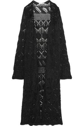 AUTUMN CASHMERE Crochet-knit cotton cardigan